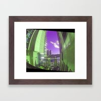 Between Two Towers Framed Art Print