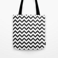 Funky chevron - black Tote Bag