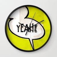 Comic Book: Yeah! Wall Clock