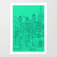 London! Mint Art Print