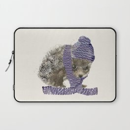Laptop Sleeve - little winter hedgehog - bri.buckley