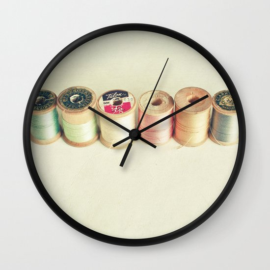 Pastel Thread Wall Clock