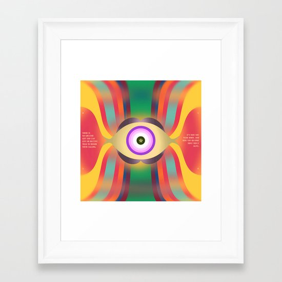 Calling Framed Art Print