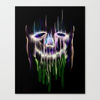 Face Illustration 4 Canvas Print