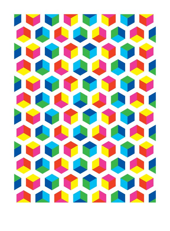 Hexagon Colour Field (2009) Art Print