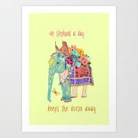 an Elephant a day Art Print