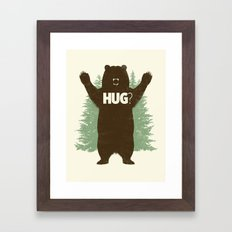 Bear Hug? Framed Art Print