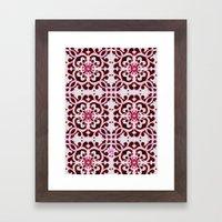 Lotus Floral Tile Patter… Framed Art Print