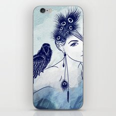Parrot Girl iPhone & iPod Skin