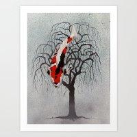 Japanese Koi Sanke Pendula Art Print