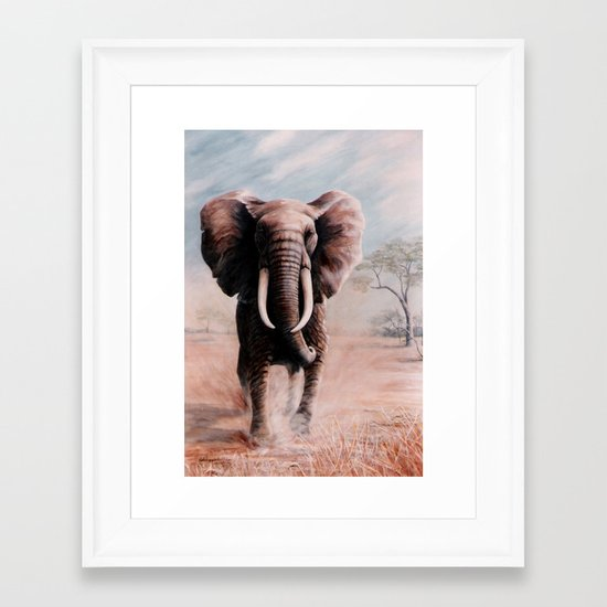 Charge  painting Framed Art Print