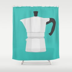#67 Bialetti Shower Curtain