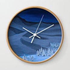Late night on the mountain  Wall Clock