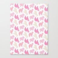 Animal Cookies - in Multi Canvas Print