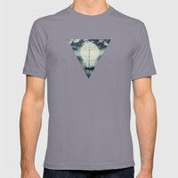 A Journey Under A Starry… Mens Fitted Tee Slate SMALL