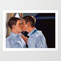 Ste & Doug Art Print