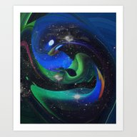 A Space Ray Art Print