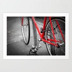 Red Bike Art Print