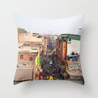India New Delhi Paharganj 5519 Throw Pillow