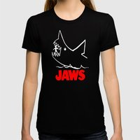 Jaws Womens Fitted Tee Black SMALL