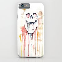 iPhone & iPod Case featuring skull drips  by Lazar Alex