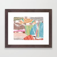 Greetings from the NorthEast Framed Art Print