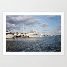 Beaufort, NC docks Art Print