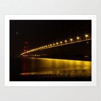 River of Gold- Humber Bridge Art Print