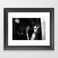 Sliding Door Framed Art Print