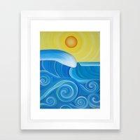 Perfect Surf Framed Art Print