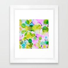 Polka Dot Pink Framed Art Print