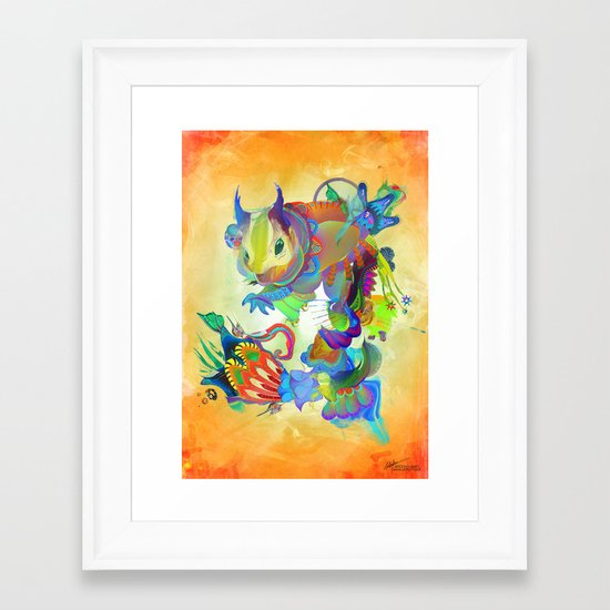 Locus Dahlia Framed Art Print