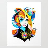 -Native Girl- Art Print