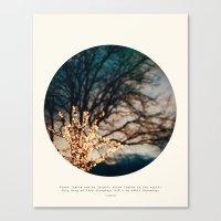 White Lights Canvas Print