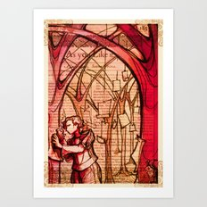 As You Like It - Shakespeare Romance Folio Illustration Art Print