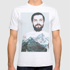 Simon Neil Mountains Mens Fitted Tee Ash Grey SMALL