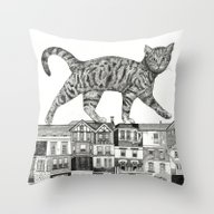 Throw Pillow featuring ZEITGEIST by Sandra Dieckmann