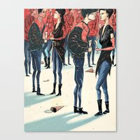 Hipster Party Canvas Print