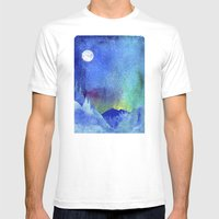 Northern Lights Mens Fitted Tee White SMALL