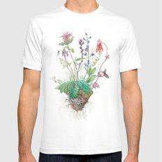 Wildflowers Mens Fitted Tee SMALL White