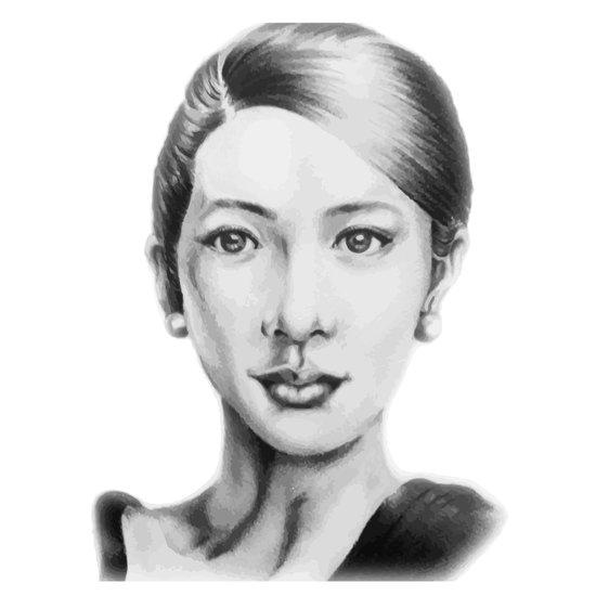 Asian beauty Art Print