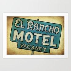 El Rancho Motel Route 66 Art Print