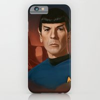 iPhone & iPod Case featuring Mr. Spock by RileyStark