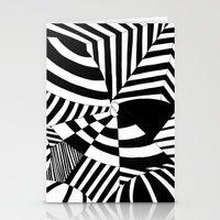 Op art pattern Stationery Cards