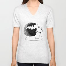 Bride of Frankenstein Unisex V-Neck