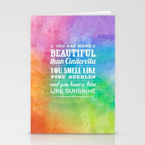 Sunshine Face Stationery Card