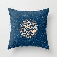 Fish Circle Throw Pillow