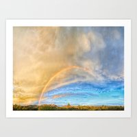 Mid May Afternoon Over Cave Creek Art Print