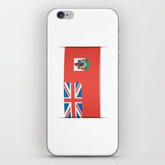 Flag of Bermuda. The slit in the paper with shadows. iPhone & iPod Skin
