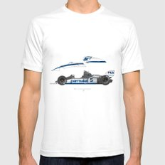 Outline Series N.º6, Nelson Piquet, Brabham BT-52 BMW, 1983 Mens Fitted Tee White SMALL